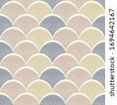 seamless pattern in art deco... | Shutterstock .eps vector #1694642167