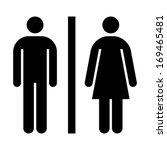 toilet  wc  restroom sign... | Shutterstock .eps vector #169465481