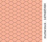 vector pattern of black chicken ... | Shutterstock .eps vector #1694685484
