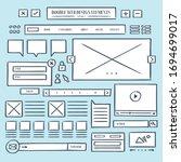 hand draw web icon vector | Shutterstock .eps vector #1694699017