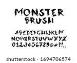 Monster Brush Typography. Hand...