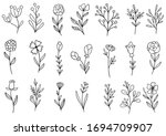 collection forest fern...   Shutterstock .eps vector #1694709907