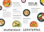thai food menu restaurant on a... | Shutterstock .eps vector #1694769961
