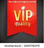vector golden vip banner on red ...   Shutterstock .eps vector #169478195