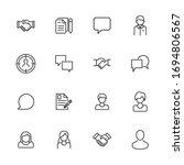 modern thin line icons set of... | Shutterstock .eps vector #1694806567