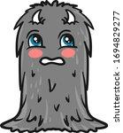 scared monster  illustration ... | Shutterstock .eps vector #1694829277