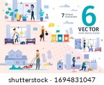 house cleaning  plumbing... | Shutterstock .eps vector #1694831047