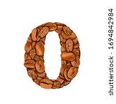 coffee bean font. alphabet...   Shutterstock . vector #1694842984