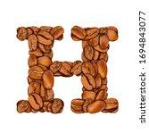 coffee bean font. alphabet... | Shutterstock . vector #1694843077