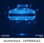 hologram curling. stone for... | Shutterstock .eps vector #1694846161