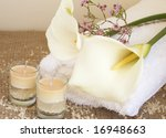 relaxing spa scene with a white ... | Shutterstock . vector #16948663