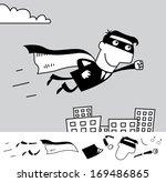 superhero. business cartoon... | Shutterstock .eps vector #169486865