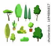 nature elements collection. set ... | Shutterstock .eps vector #1694886817