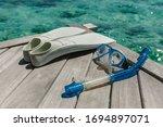 Snorkelling Equipment On Wood...