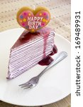 blueberry crepe cake for a... | Shutterstock . vector #169489931
