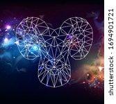 astrology zodiac sign aries on... | Shutterstock .eps vector #1694901721