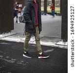 milan  italy   february 2  2018 ... | Shutterstock . vector #1694925127