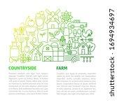 farm line template. vector... | Shutterstock .eps vector #1694934697