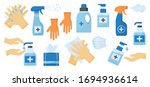 disinfection. hand hygiene. set ... | Shutterstock .eps vector #1694936614