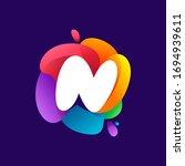 letter n logo at colorful...   Shutterstock .eps vector #1694939611
