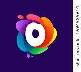 letter o logo at colorful...   Shutterstock .eps vector #1694939614