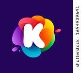 letter k logo at colorful...   Shutterstock .eps vector #1694939641