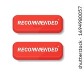 i recommend the banner in red.... | Shutterstock .eps vector #1694980057