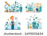 biodegradable plastic invention ... | Shutterstock .eps vector #1695033634