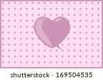 valentine day greeting card... | Shutterstock . vector #169504535