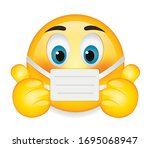 high quality emoticon on white... | Shutterstock .eps vector #1695068947