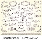 set of decorative elements for... | Shutterstock .eps vector #1695069064