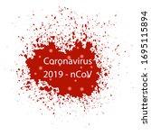 vector blood splash isolated on ...   Shutterstock .eps vector #1695115894