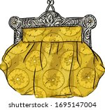 illustration with antique... | Shutterstock .eps vector #1695147004