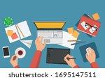 flat vector illustration of...   Shutterstock .eps vector #1695147511