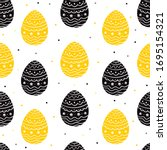 easter seammless pattern with...   Shutterstock .eps vector #1695154321