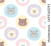 cute bear in a pastel circle...