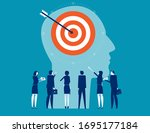 business team customer target... | Shutterstock .eps vector #1695177184