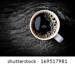 close up view of a white mug of ... | Shutterstock . vector #169517981