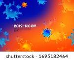 novel coronavirus  2019 ncov .... | Shutterstock .eps vector #1695182464