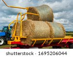 Straw On A Trailer From A...