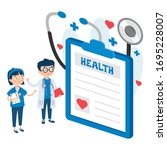 health care concept with...   Shutterstock .eps vector #1695228007