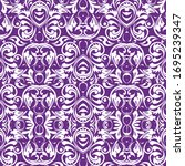 traditional hand drawn pattern... | Shutterstock .eps vector #1695239347