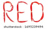 the word red made of red hot... | Shutterstock . vector #1695239494