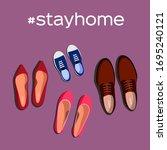 stay home motivational banner....   Shutterstock .eps vector #1695240121