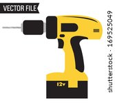 vector power drill | Shutterstock .eps vector #169525049