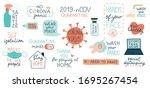 coronavirus covid 19 set of... | Shutterstock .eps vector #1695267454