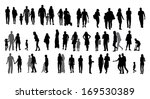 set of silhouette walking... | Shutterstock . vector #169530389