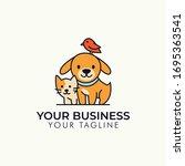 Dog Cat Bird Pet Shop Vector...