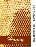 yellow beautiful honeycomb with ... | Shutterstock . vector #169541069