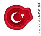 vector illustration of turkish... | Shutterstock .eps vector #1695411784